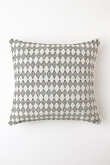 White Ayekumla Cushion Cover by Vekuvolu Dozo-Shop By Style