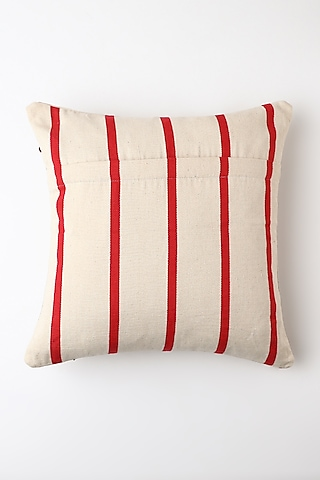 White Iwu Cushion Cover by Vekuvolu Dozo