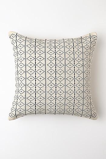 White Ilo Cushion Cover by Vekuvolu Dozo