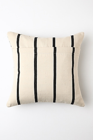 White Ilo Cushion Cover by Vekuvolu Dozo