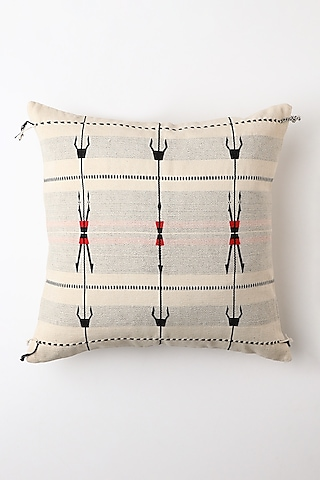 White Spear Cushion Cover by Vekuvolu Dozo