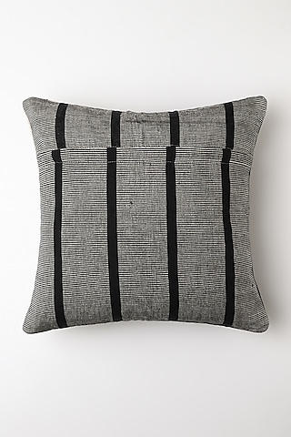 White Metho Cushion Cover by Vekuvolu Dozo