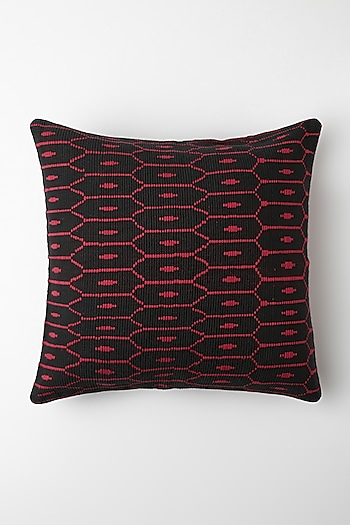 Black Mhabii Cushion Cover by Vekuvolu Dozo