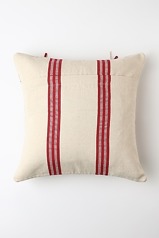 White Imulo Cushion Cover by Vekuvolu Dozo