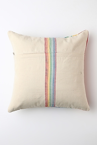 White Dziive Cushion Cover by Vekuvolu Dozo