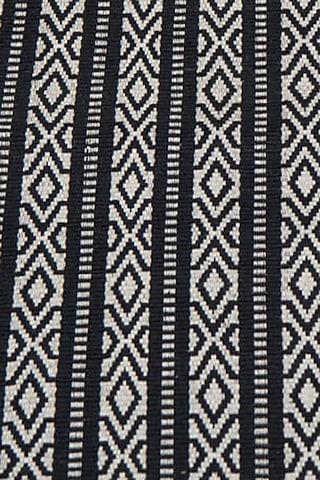 White & Black Cotton Handwoven Kiiriiopho Table Runner by Vekuvolu Dozo