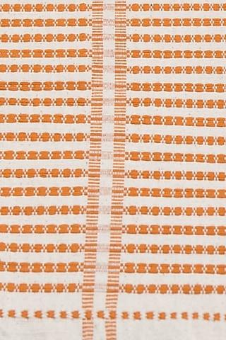 Orange Cotton Handwoven Table Runner by Vekuvolu Dozo
