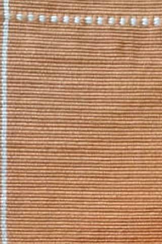 Orange & White Cotton Handwoven Table Mat by Vekuvolu Dozo