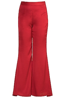 Red Flared Pants by Vidhi Wadhwani