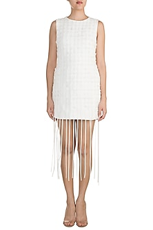 Off White Textured Dress by Vidhi Wadhwani