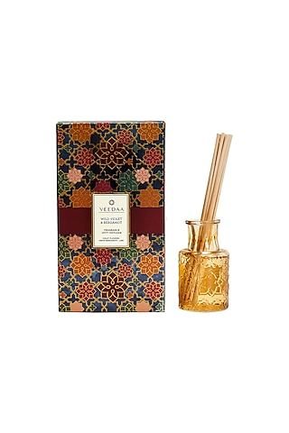 Multi Colored Wild Violet & Bergamot Classic Reed Diffuser by VEEDAA