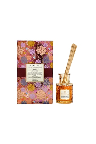 Multi Colored Ruby Peony & Honeysuckle Classic Reed Diffuser by VEEDAA