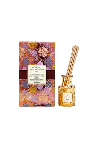 Multi Colored Fresh Mogra Classic Reed Diffuser by VEEDAA