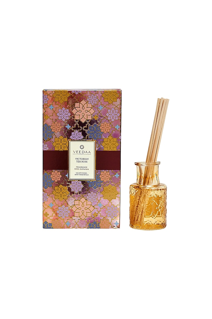 Multi Colored Victorian Tea Rose Classic Reed Diffuser by VEEDAA