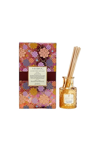 Multi Colored Victorian Tea Rose Classic Reed Diffuser by VEEDAA