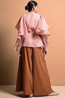 Blush Pink Embellished Top by Vivek Patel
