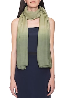 Green ombre dyed shawl by Vilasa