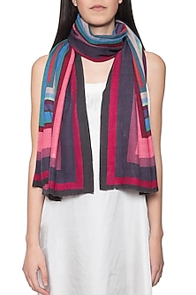 Multicolour digital print stole by Vilasa