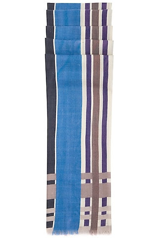 Blue printed stole by Vilasa