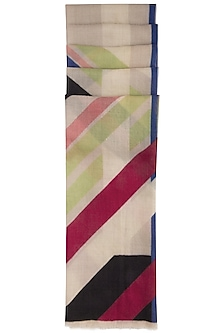 Multi colored printed stole by Vilasa