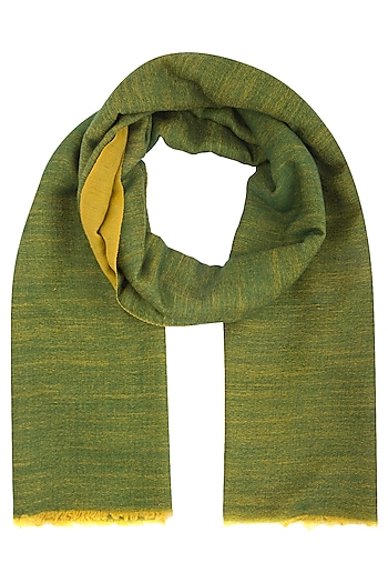 Ochre yellow and green reversible stole by Vilasa