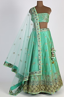 Mint Green Lehenga Set by Vasansi Jaipur