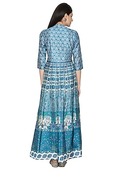 Blue Digital Printed Anarkali by Vasansi Jaipur