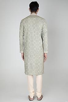 Grey Embroidered Kurta Set by Vanshik