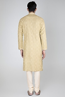 Mint Green Thread Embroidered Kurta Set by Vanshik