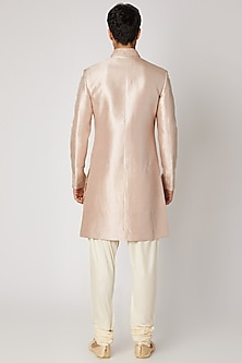 Mauve Silk Sherwani Set by Vanshik