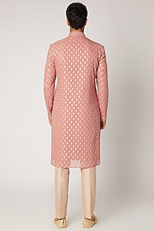 Blush Pink Embroidered Kurta Set by Vanshik