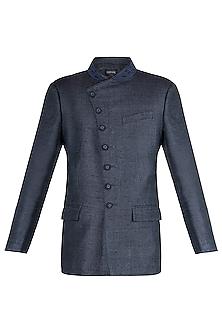 Black Embroidered Jodhpuri Jacket by Vanshik