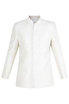Cream Embroidered Jodhpuri Jacket by Vanshik