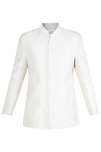 Cream Embroidered Jodhpuri Jacket by Vanshik