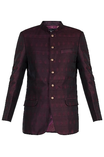Wine Jodhpuri Jacket by Vanshik
