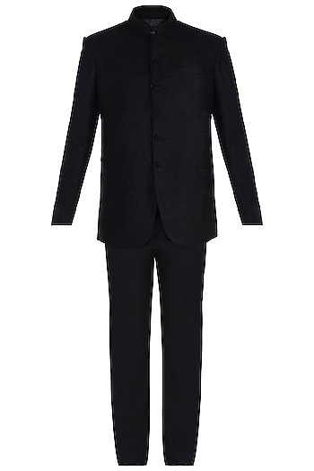 Black Jodhpuri Jacket by Vanshik
