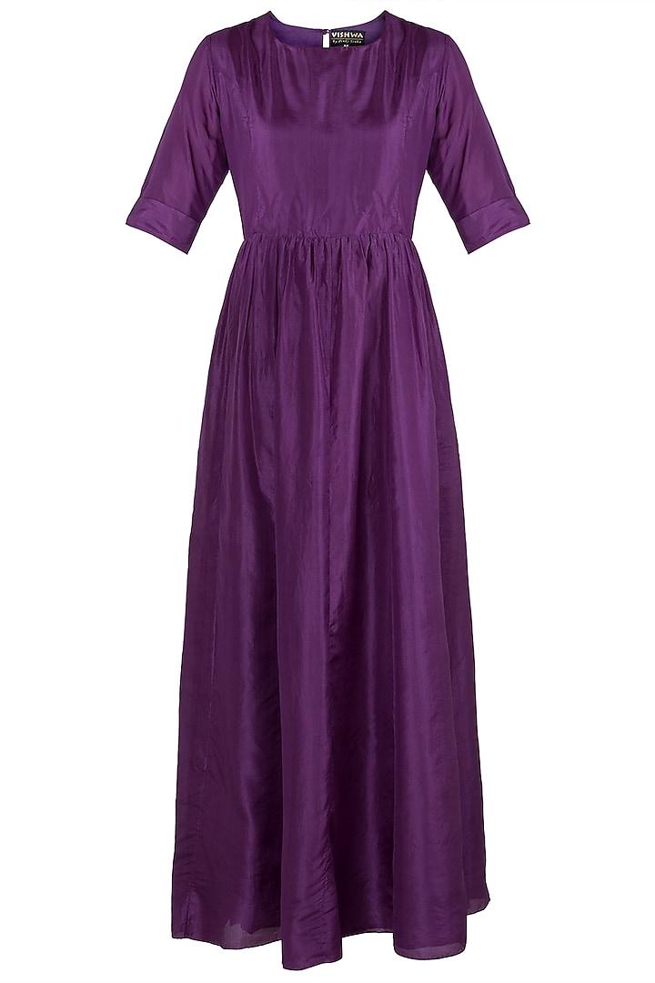 Violet Maxi Dress by Vishwa By Pinki Sinha