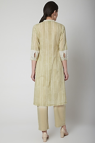 Mint Green Embroidered Ombre Pants by Vineet Rahul