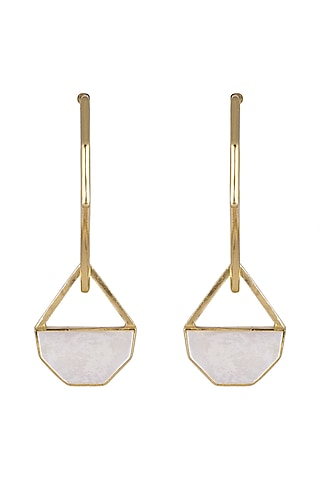 Gold Plated Handcrafted Earrings by Varnika Arora