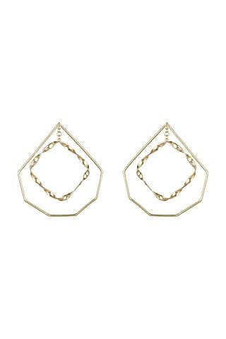 Gold Plated Handcrafted Dangler Earrings by Varnika Arora