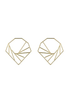Gold Plated Big Earrings  by Varnika Arora