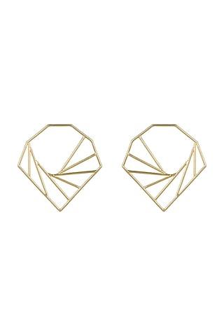 Gold Plated Big Earrings  by Varnika Arora