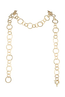 Gold Plated Nickle Free Necklace by Varnika Arora