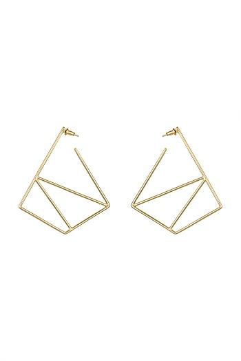 Gold Plated Hoop Earrings by Varnika Arora