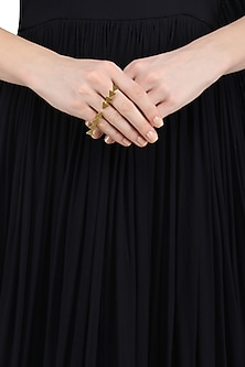 Gold Plated Open Ring by Varnika Arora