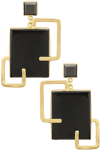 Gold plated Barre Earrings by Varnika Arora