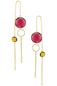 Gold plated Flare Star Earrings by Varnika Arora