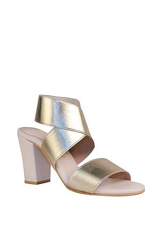 Gold & Cream Bandage Sandals by Veruschka By Payal Kothari