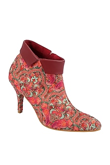 Multi Colored Kashmiri Embroidered Boots by Veruschka By Payal Kothari