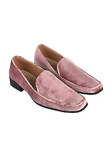 Pink Animal Embossed Loafers by Veruschka By Payal Kothari Men